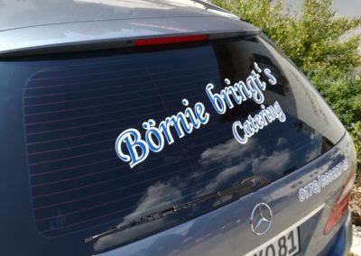 Unser Logo auf dem Auto